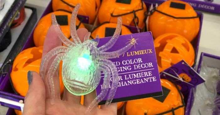 LED Color Changing Spiders, Halloween Solar Lights & More Just $1 Each at Dollar Tree