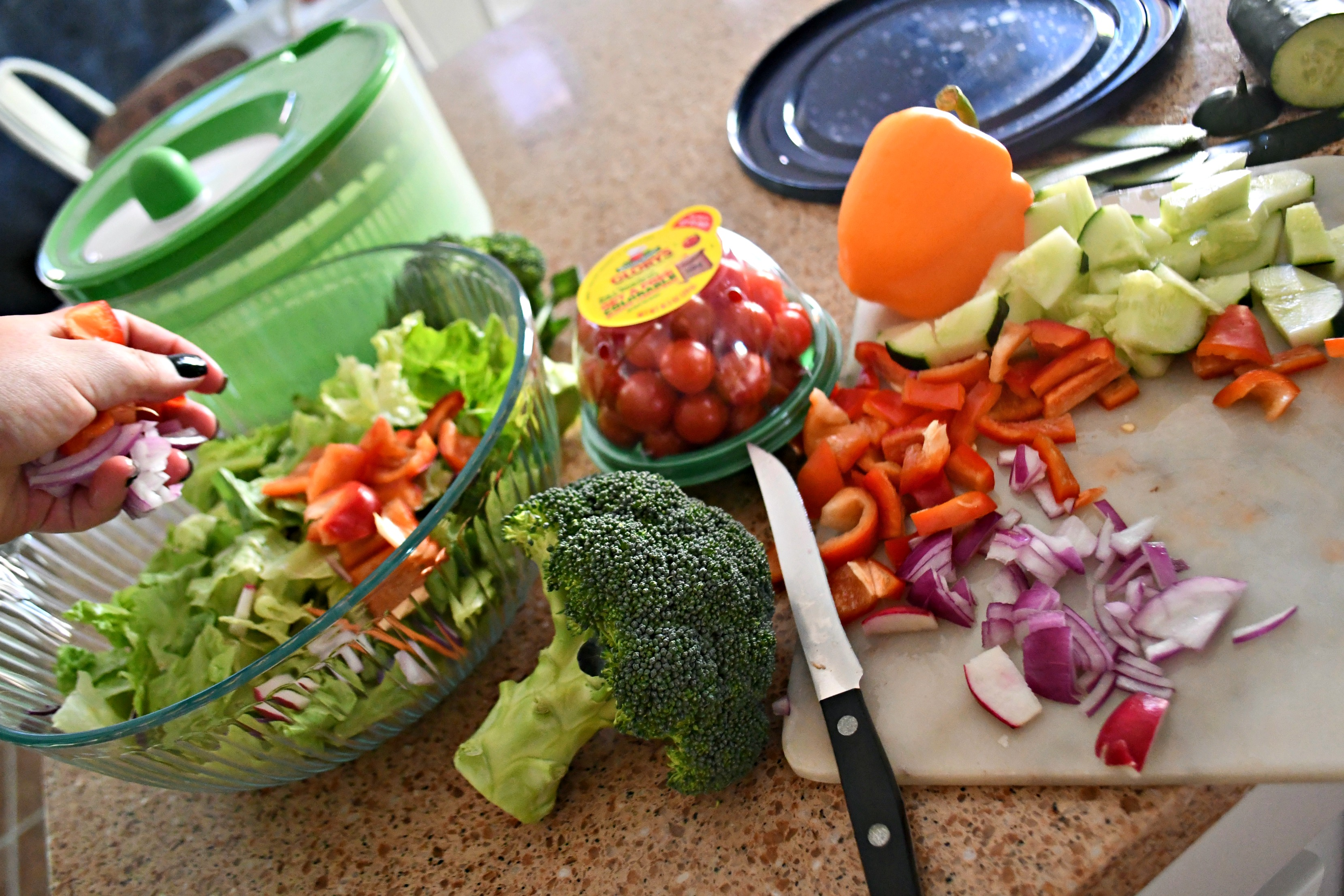 Weekly Sunday Salad Prep and my favorite dressing recipe ingredients.