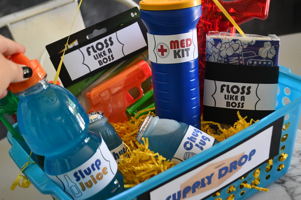 DIY Dollar Tree Fortnite Gift Basket will be a hit with any fortnite fans!