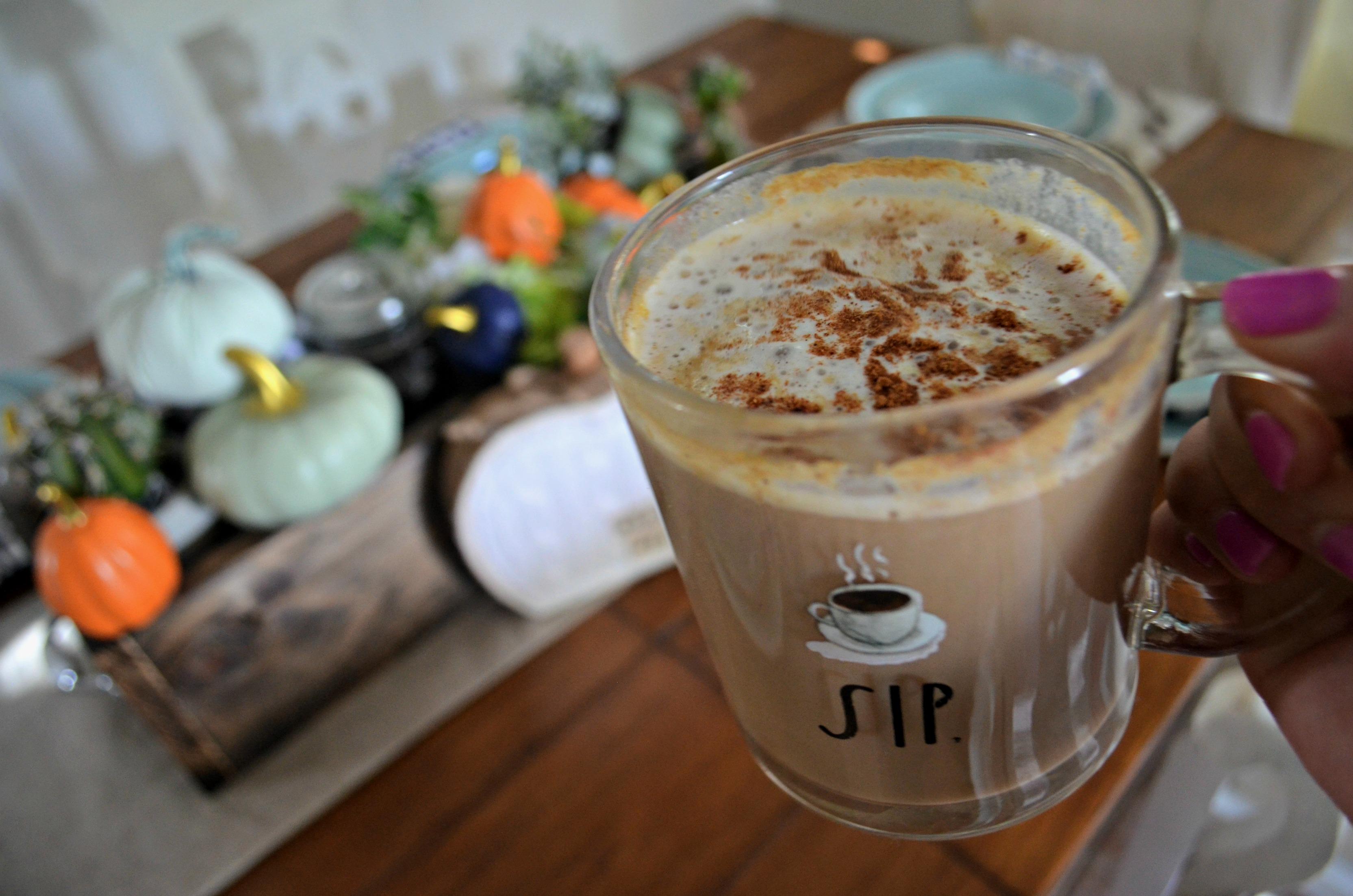 DIY Pumpkin Spice Latte -in a mug