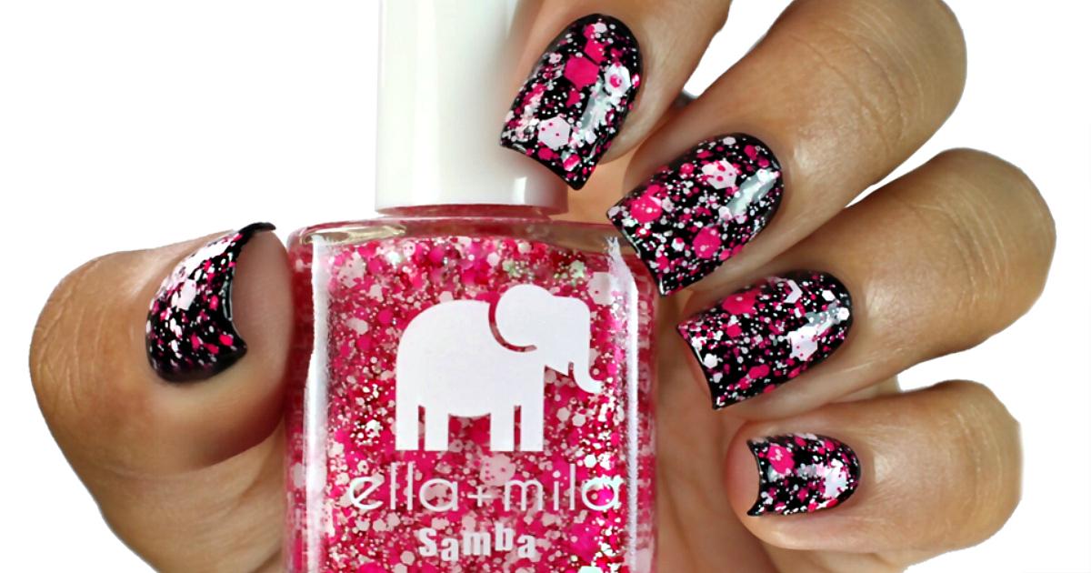 Nail polish deal: ella + mia splatter nail colors are FUN!
