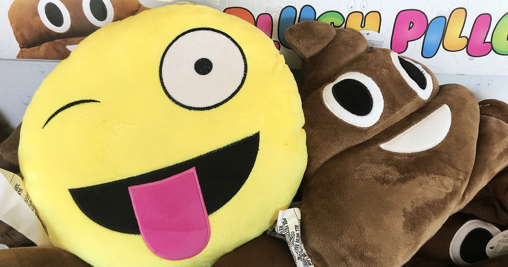 Emoji Character Plush Pillows Only $1 at Dollar Tree - Hip2Save