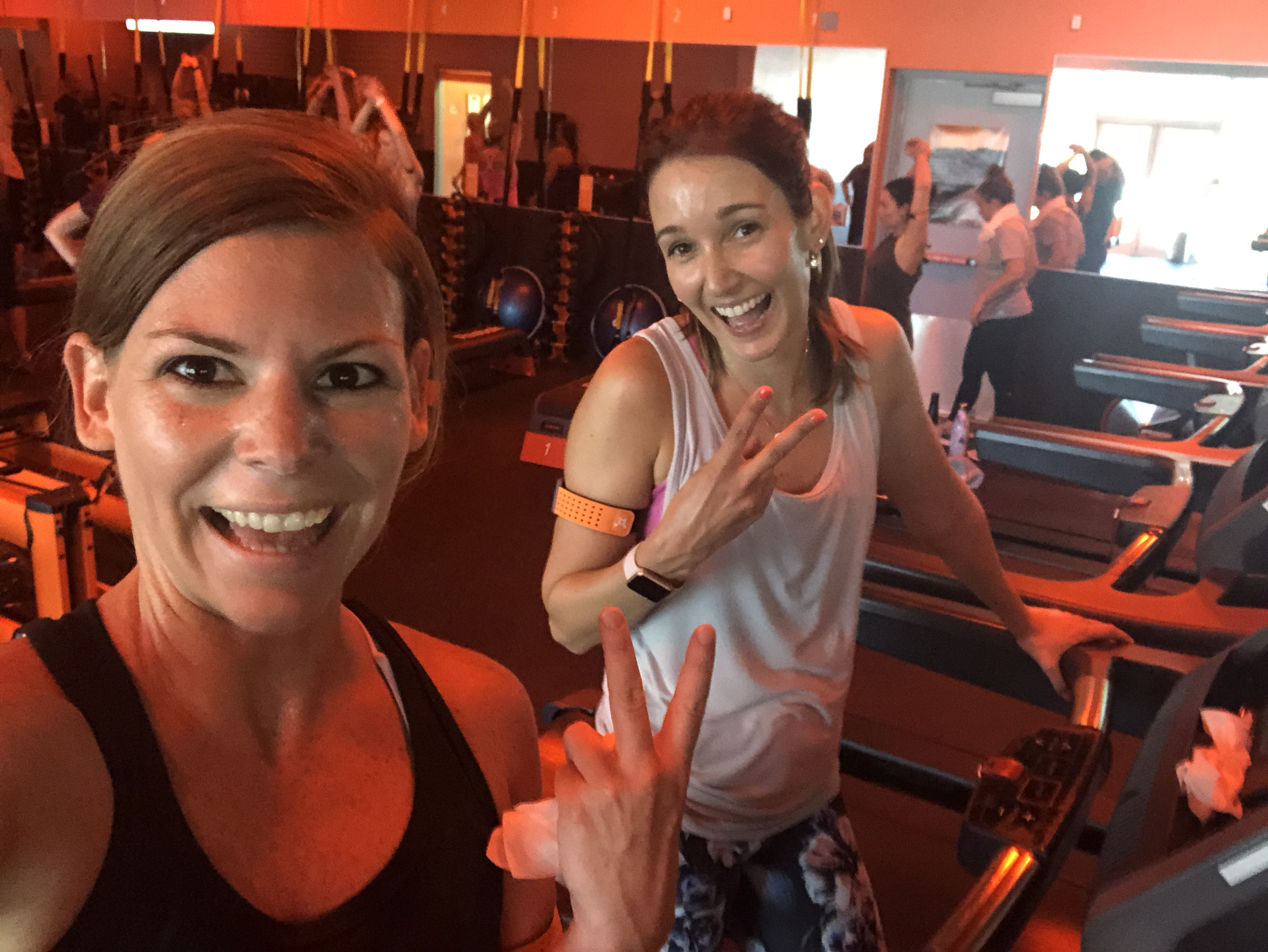 orangetheory fitness review – Erica and a friend at Orangetheory