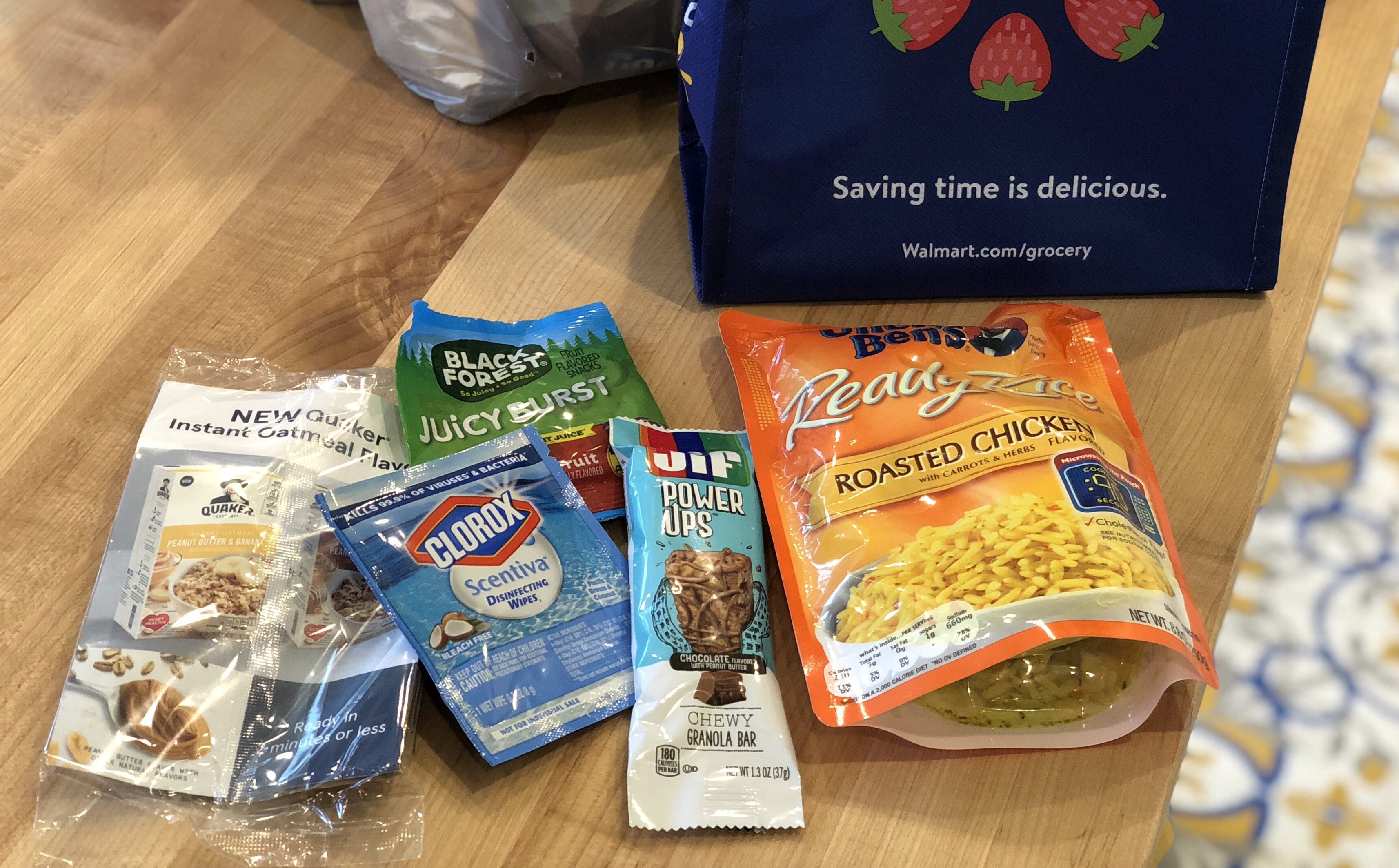 My walmart grocery pickup order includes a free goody bag for new shoppers