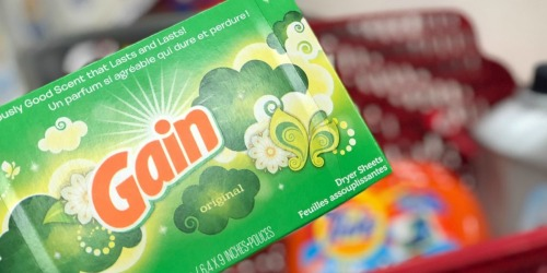 Gain Dryer Sheets 120-Count Box Only $3 Shipped at Amazon