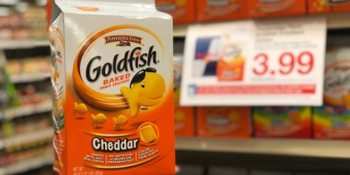 HUGE Pepperidge Farm Goldfish Cartons Only $3.99 at Kroger (9/28 & 9/29 Only) – Load Coupon Now