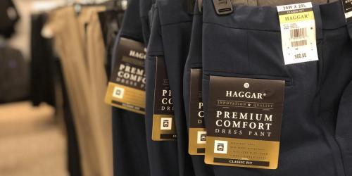 Up to 80% Off Men's Dress Pants at Macy's (Alfani, Haggar & More)