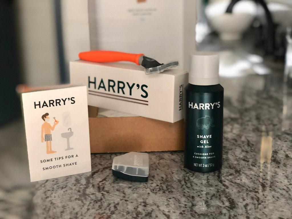 Harry's Razor, Shavel Gel and blade cover