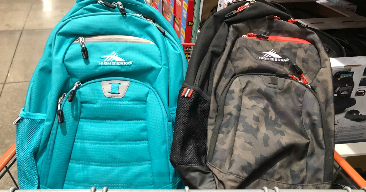 68751a7f446 Head into your local Costco where you may find High Sierra RipRap Backpacks  priced at only  9.97! This is a great deal as they are still selling for   19.99 ...