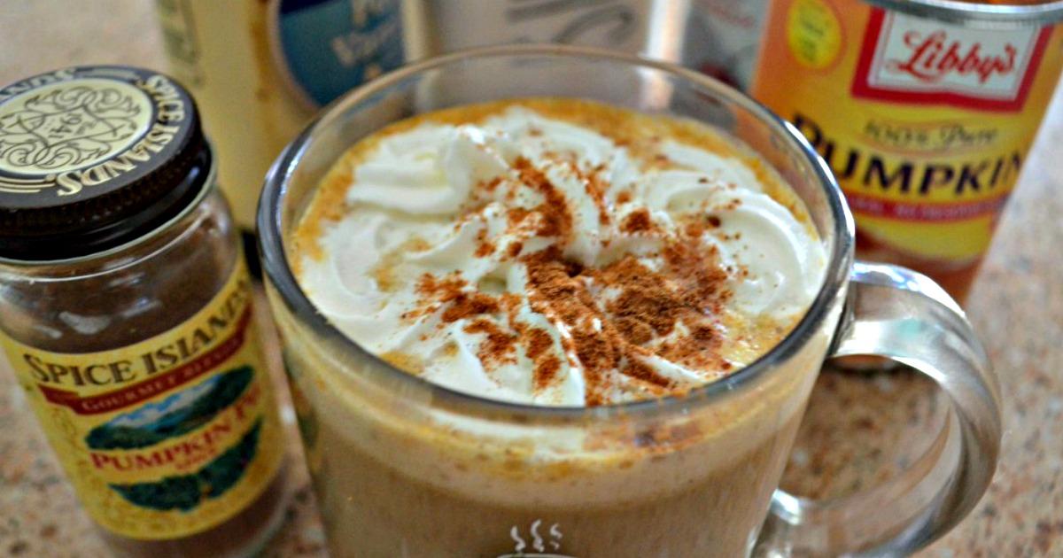 DIY Pumpkin Spice Latte - served up in a mug