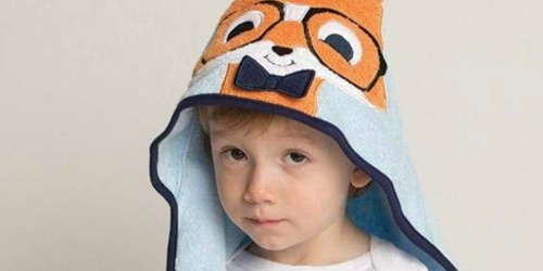 Hudson Baby Cotton Animal Face Hooded Towel Only $4.67 on Amazon