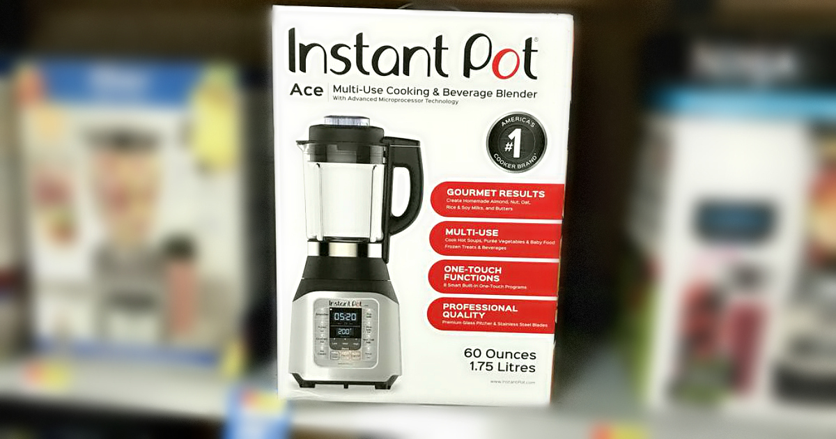 instant pot cooking blender is available exclusively at walmart – here in a box on the shelf