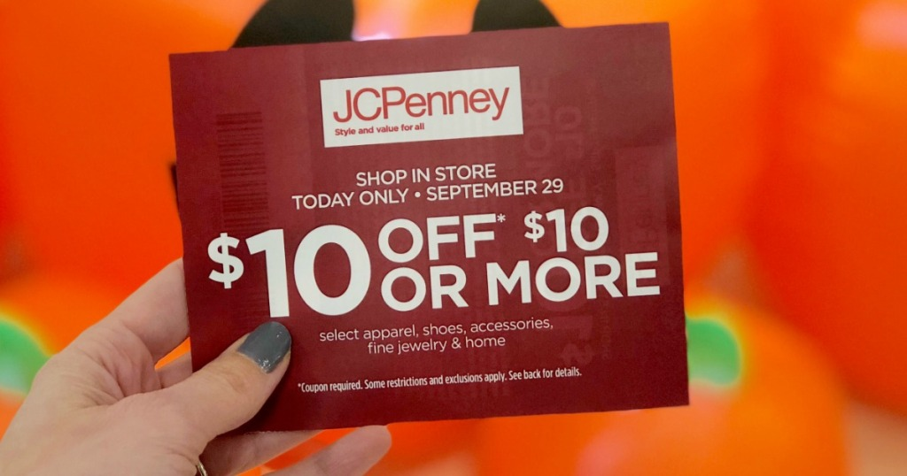Jcpenney 10 Off 10 Coupon Giveaway Today Only Hip2save