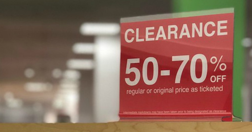 The best ways to shop and save with these jcpenney shopping tips — clearance section with sale signage