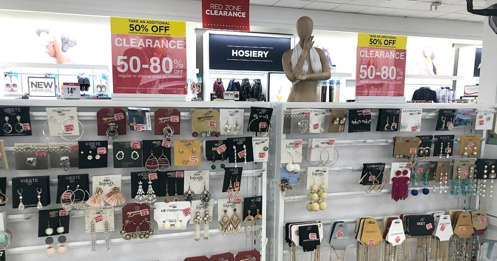 jcpenney shopping tips — clearance jewelry section