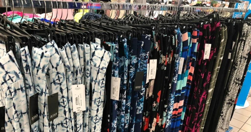 rack of leggings at JCPenney