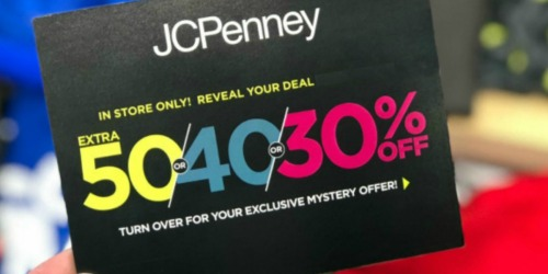 JCPenney Mystery Coupon – Save up to 50% Off