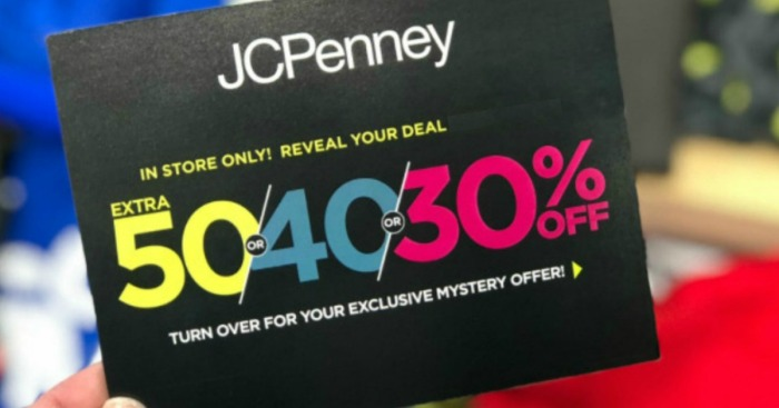 00744cd46431 JCPenney Mystery Coupon Giveaway  Up To 50% Off Entire Purchase (September  7th-9th) - Hip2Save