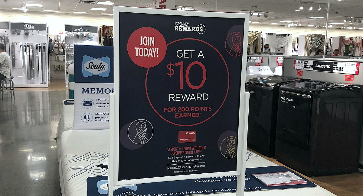 picture of sign in store introducting rewards program