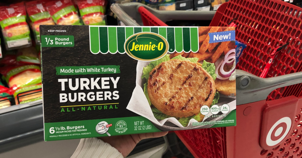 40 Off Jennie O Frozen Turkey Burgers At Target Just Use