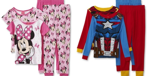 Kids 4-Piece Pajama Sets Only $7.97 on Sears.com (Regularly up to $42)