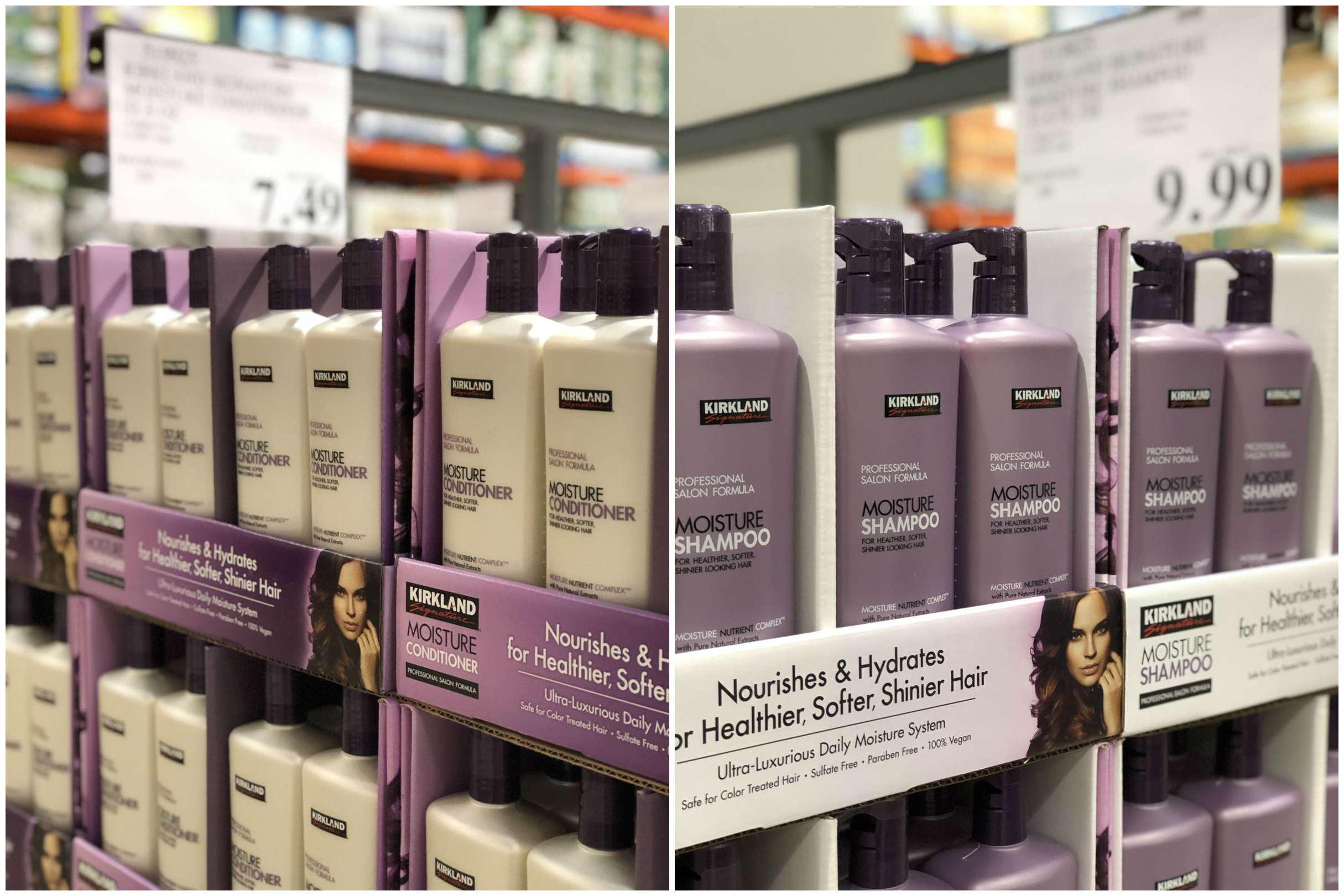 name brands sometimes make costco items, like this Kirkland Signature haircare