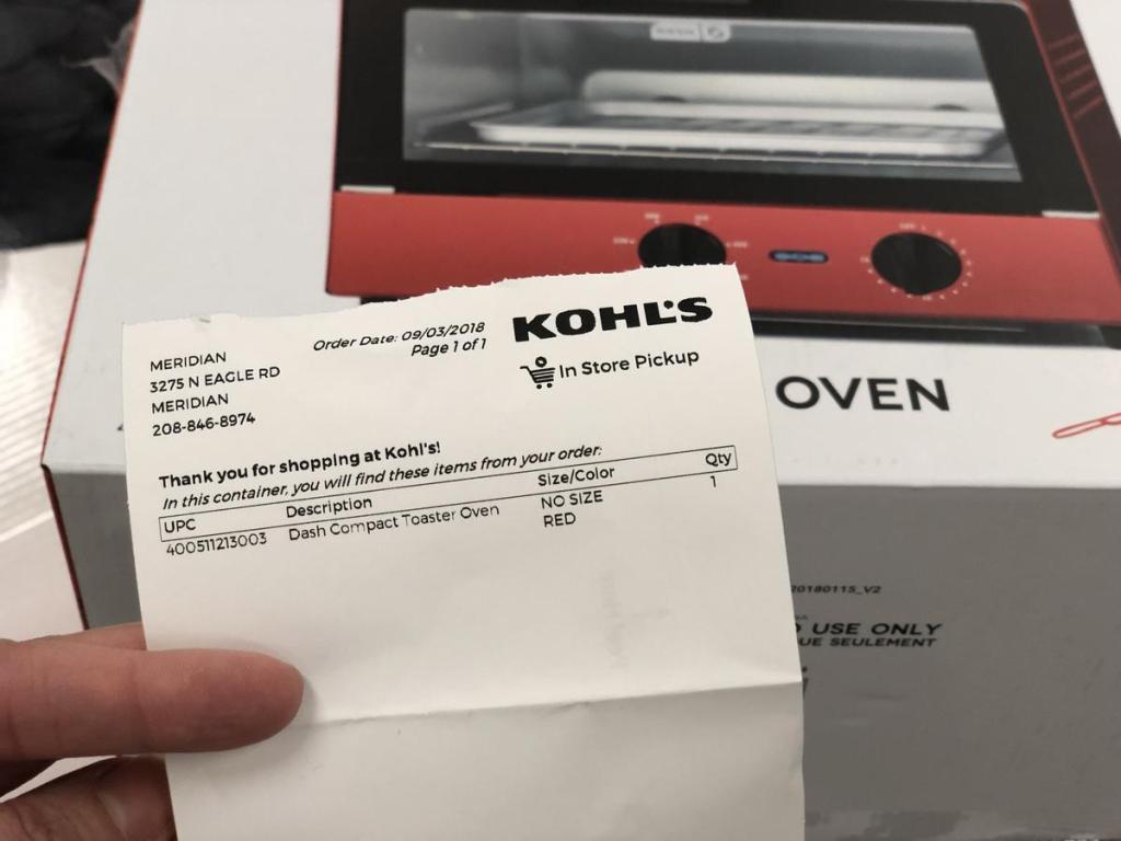 Kohl's store pickup rebates