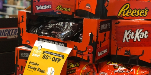 50% Off Halloween Candy Jumbo Bags Today Only at Kroger & Affiliates Stores