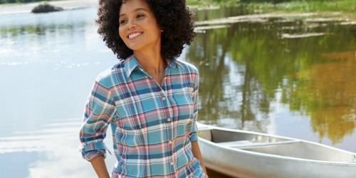 L.L. Bean Women's Flannel Shirt, Jeans AND $10 Gift Card Just $51.98 Shipped (Over $110 Value)