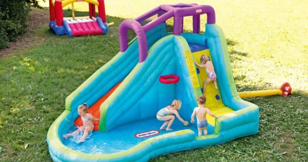 Little Tikes Slam N Curve Inflatable Water Slide 226 90