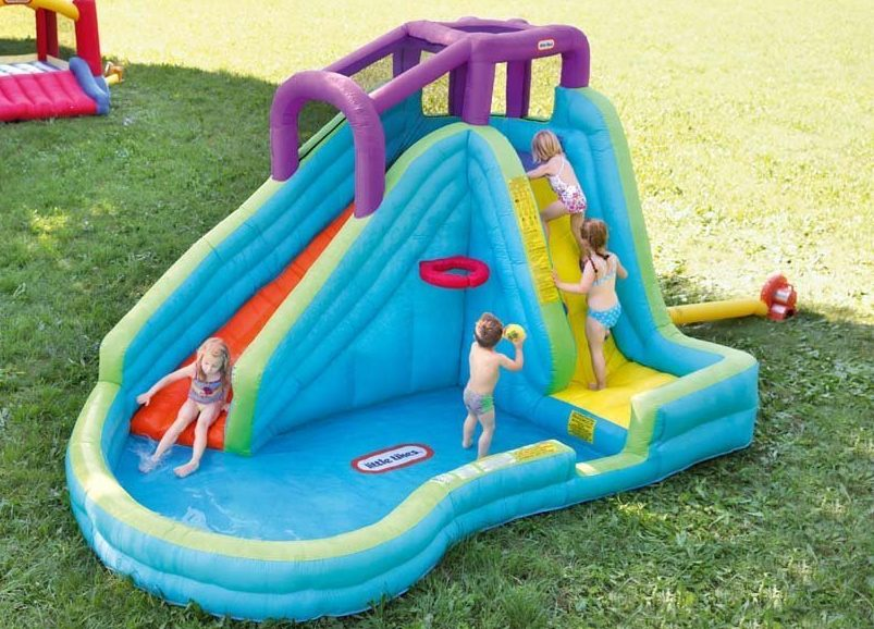 8814349c390 Little Tikes Slam  n Curve Inflatable Water Slide  226.90 Shipped ...