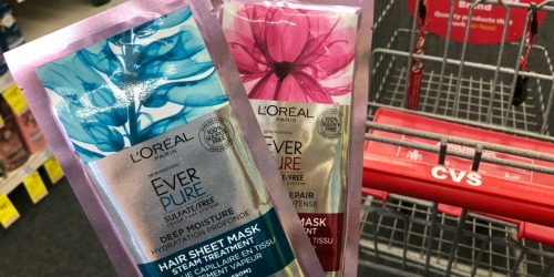 L'Oreal Ever Pure Hair Sheet Masks Only $2.49 Each After CVS Rewards