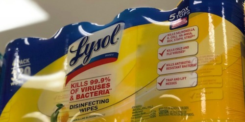 Amazon: 320 Lysol Disinfecting Wipes as Low as $9.36 Shipped (Just $2 Per Canister)