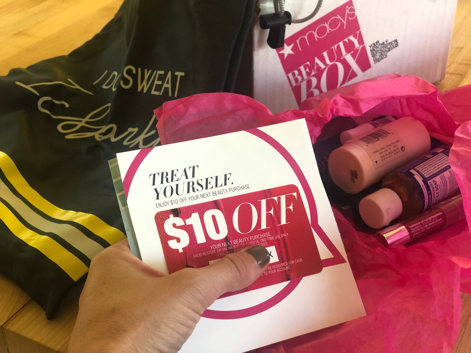 Keto snacks, activewear, and beauty samples deals! Macy's Coupon