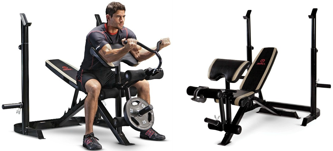 This Weight Bench Features An Adjustable Design Which Allows You To Work  Out Both Your Upper And Lower Body. It Also Has A Separate Squat Rack To  Add Even ...