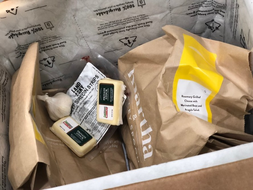 inside Martha & Marley spoon meal kit box