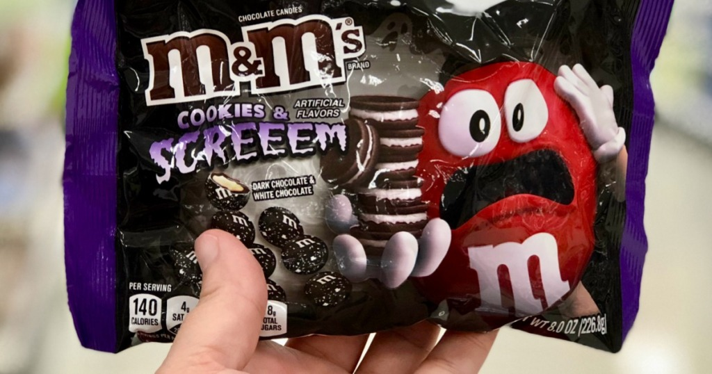 2018 target halloween candy includes M&M's Cookies & SCREEEM at Target