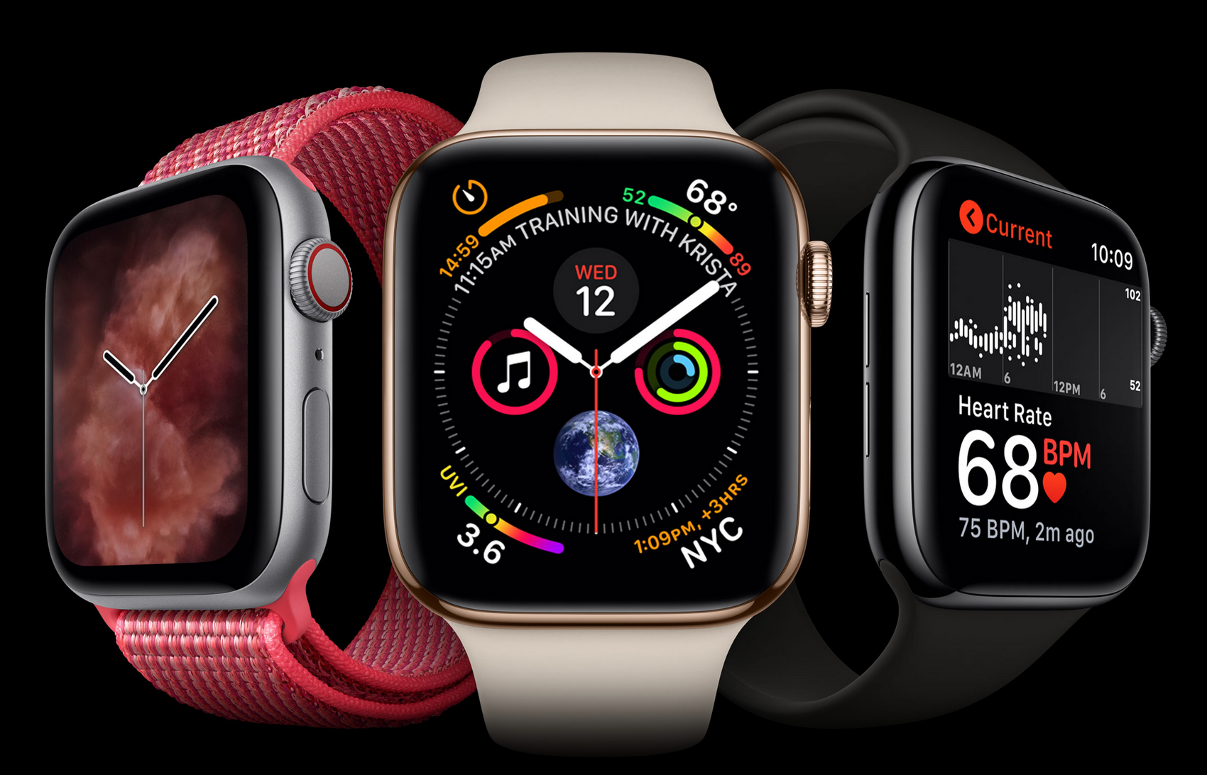 New Apple iPhone and watch releases are here! Pictured here: the new apple watch series 4