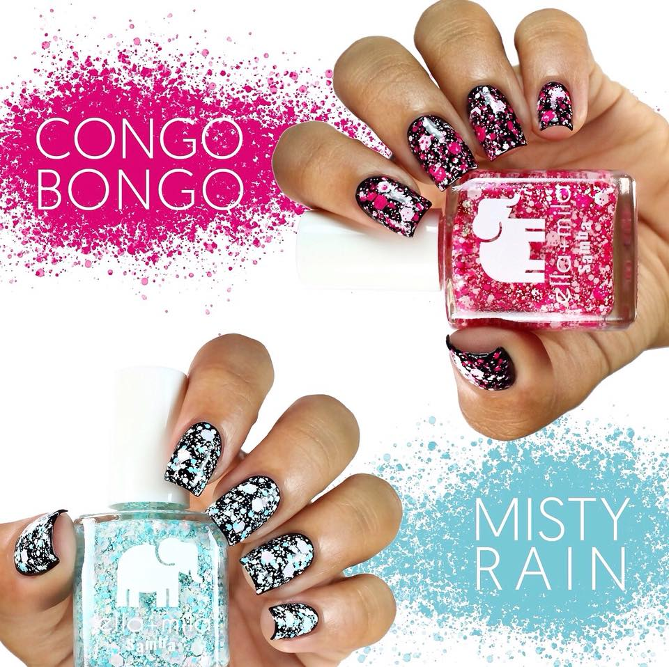 Nail polish deal: New Ella Mila funky nail splatter colors