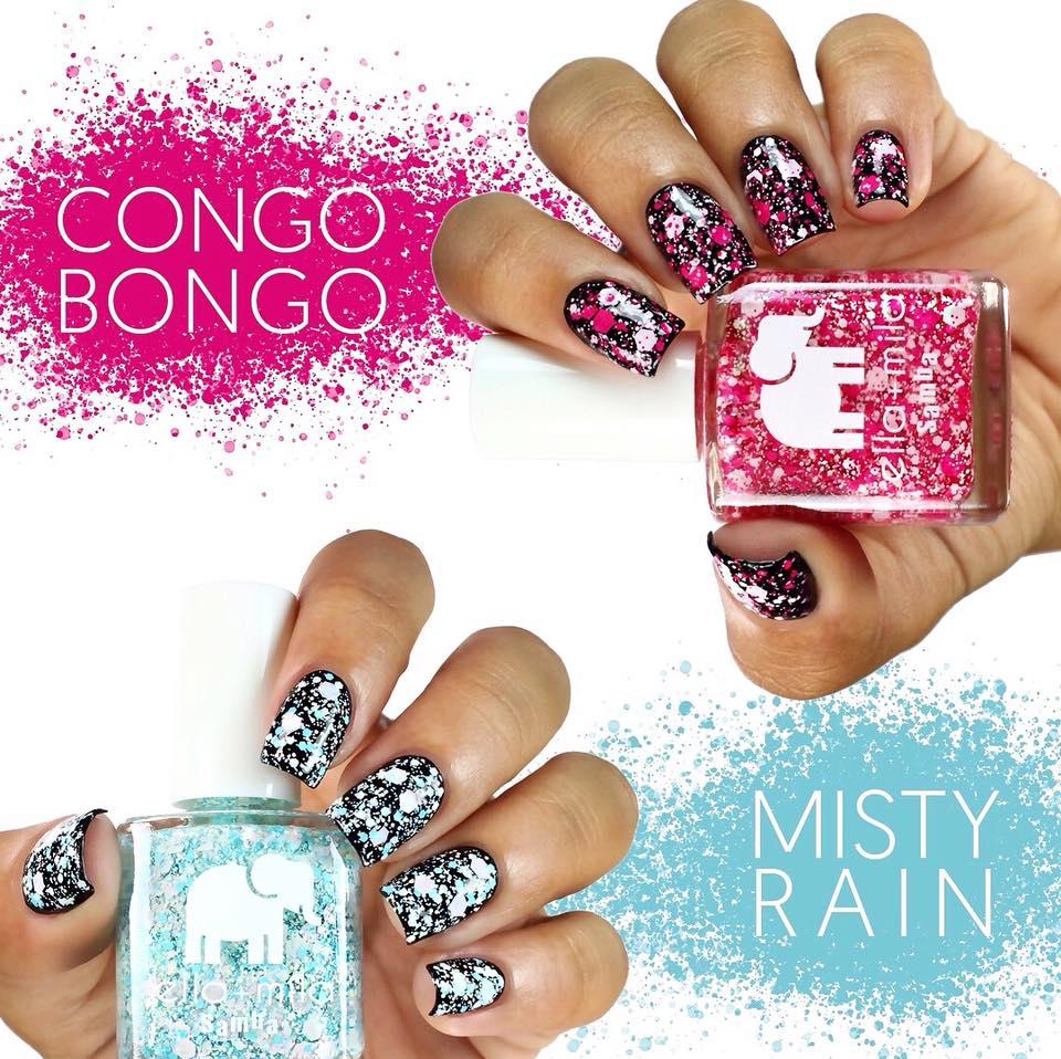 ella + mila platter nail deal – New Ella Mila funky nail colors in pink and blue