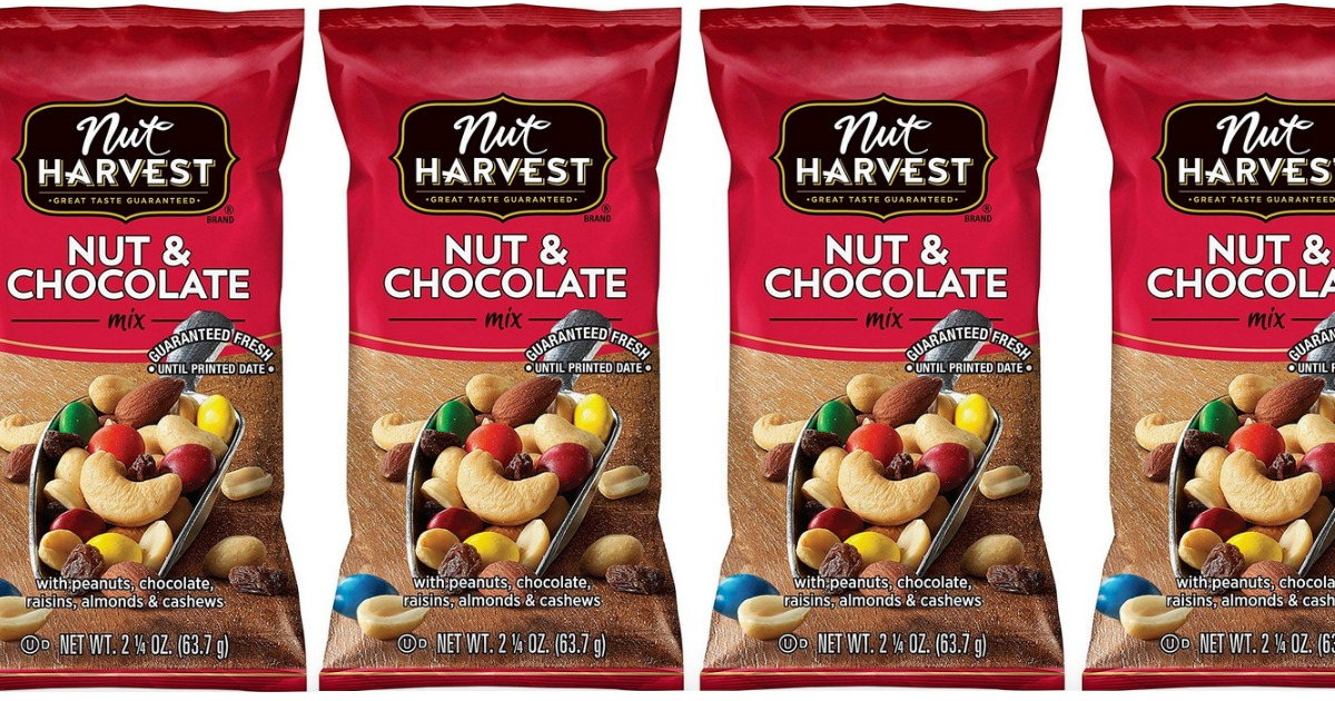 nuts & chocolate trail mix bags