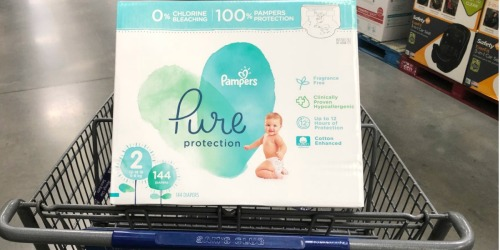 Over $20 Off HUGE Box of Pampers Pure Protection Diapers at Sam's Club