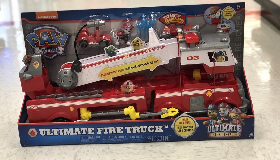 Top 2018 Christmas Toys for Amazon - Paw Patrol Ultimate Fire Truck Toy