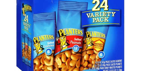 Amazon: Planters Nuts 24-Count Variety Pack Just $6.55 Shipped