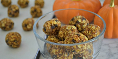 Pumpkin Oatmeal Energy Bites (No-Bake Snack)