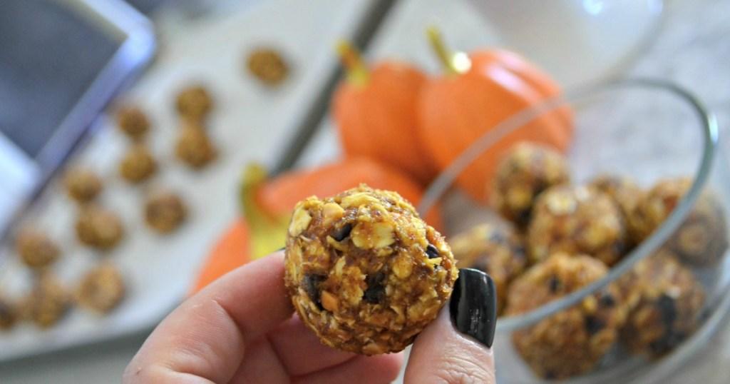 No Bake Pumpkin Oatmeal Energy Bites