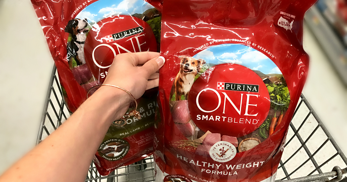 image regarding Purina One Printable Coupon called $5 Off Purina 1 Smartblend Dry Canine Meals at Walmart - Hip2Preserve