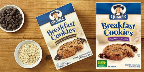 Quaker Breakfast Cookies 24-Count Variety Pack Only $10.80 Shipped on Amazon | Just 45¢ Per Cookie