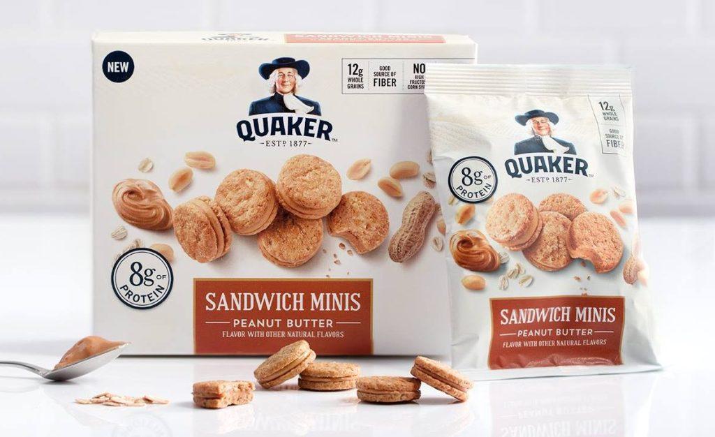 Quaker peanut butter sandwich minis