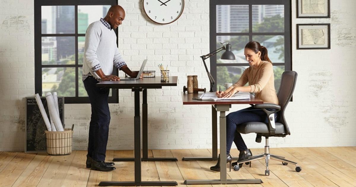 office depot officemax realspace pneumatic height adjustable desk rh hip2save com